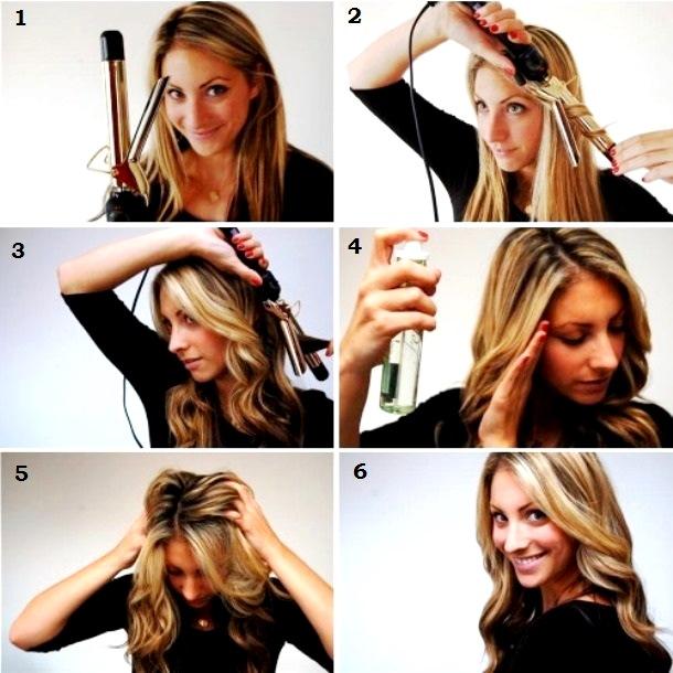 Как сделать локоны волосы средней длины